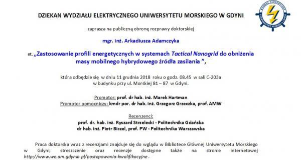 mgr A. Adamczyk